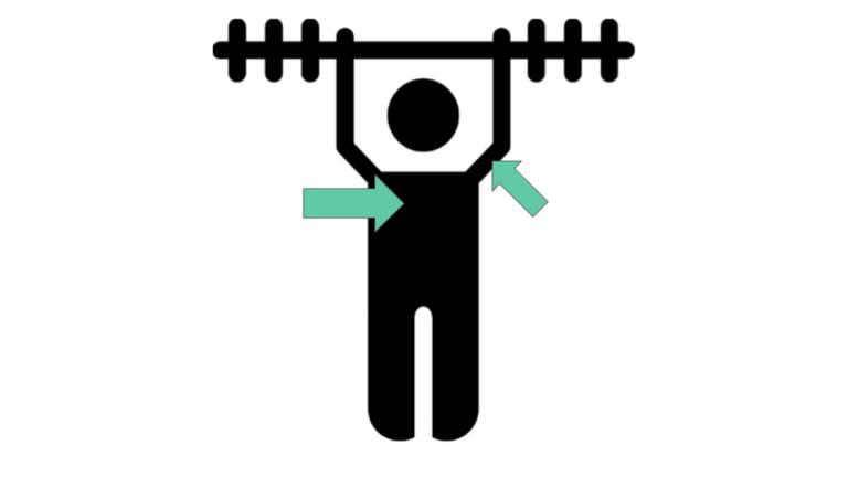 bryst, triceps